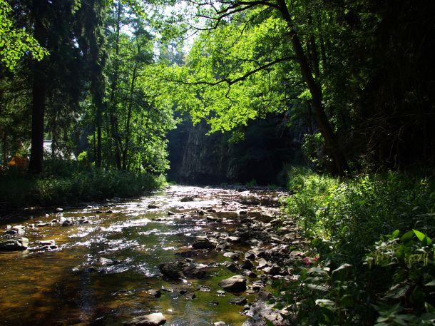Zříceniny a další zajímavá místa podél toku Bobrůvky